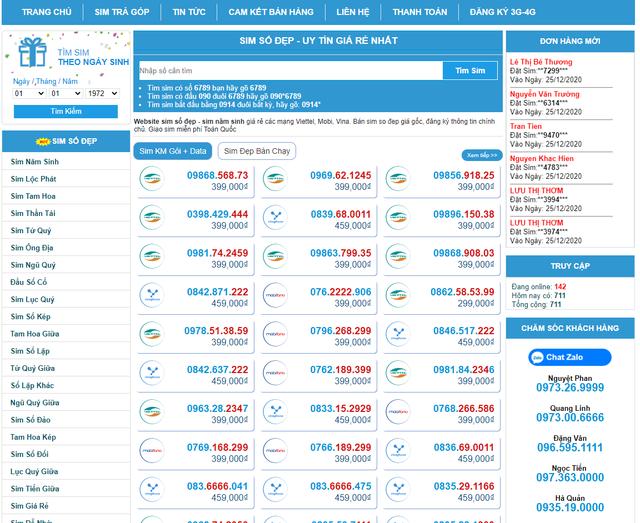 Sim Đẹp Online - Hệ thống kho sim số đẹp Viettel giá siêu rẻ - 2