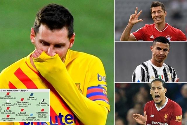 Messi bị gạch tên khỏi đội hình xuất sắc nhất năm 2020 - 1
