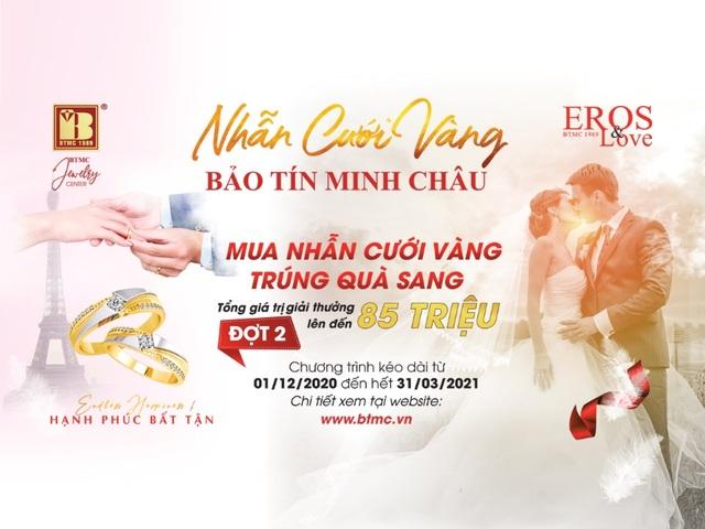 Mua nhẫn cưới vàng trúng quà sang đợt 2 tại Bảo Tín Minh Châu - 1