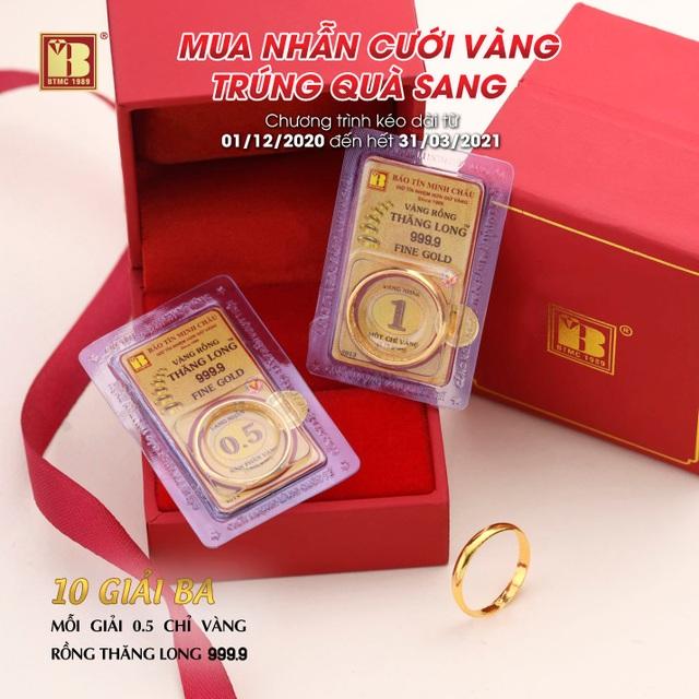 Mua nhẫn cưới vàng trúng quà sang đợt 2 tại Bảo Tín Minh Châu - 5