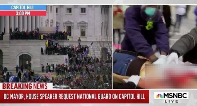 Người ủng hộ ông Trump đối đầu cảnh sát Mỹ bên trong tòa nhà quốc hội - 2