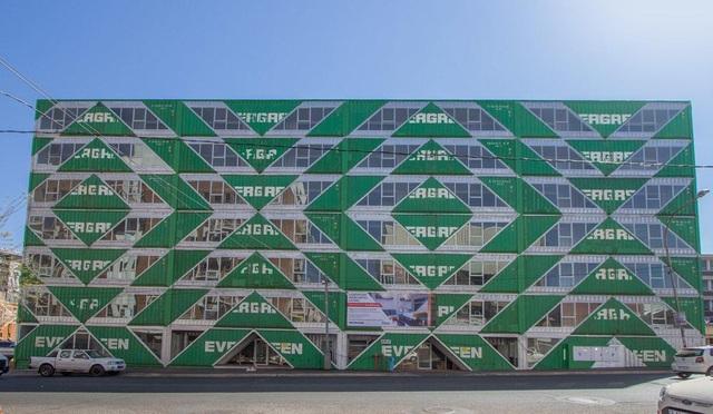 Khó tin tòa chung cư 6 tầng làm hoàn toàn từ container - 1