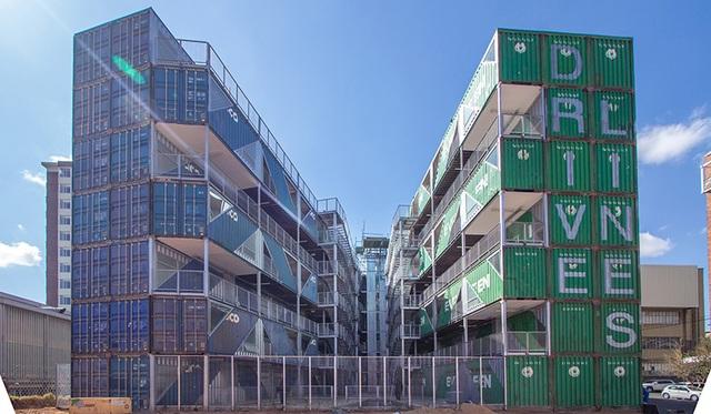Khó tin tòa chung cư 6 tầng làm hoàn toàn từ container - 3
