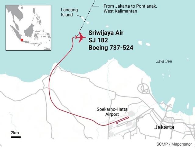 Tiếng nổ như bom vào thời điểm máy bay Indonesia chở 62 người mất tích - 2