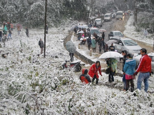 Những đợt băng tuyết như châu Âu hiếm gặp ở miền Bắc - 2