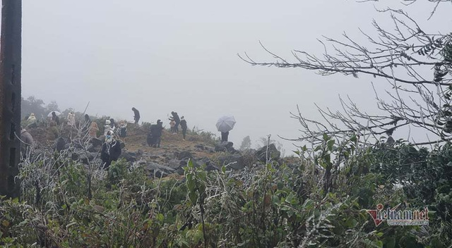 Trăm người co ro đi xem băng tuyết, đèo Ô Quy Hồ ùn dài 2 ngày liên tiếp - 8