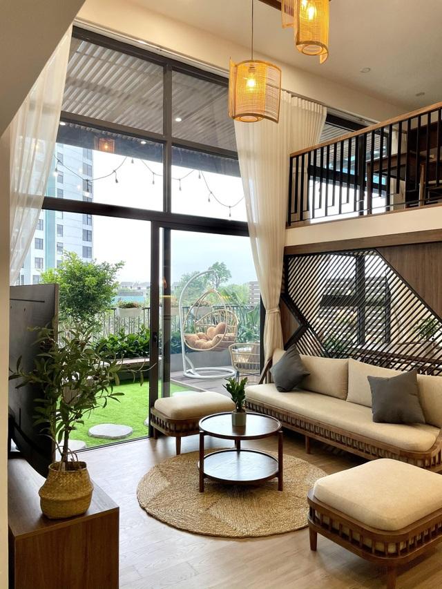 Căn chung cư ở Hà Nội có sân vườn giúp gia chủ uống trà, ngắm hoa mỗi ngày - 3