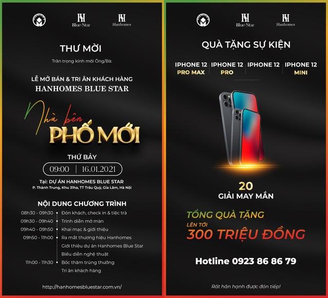 Tiết lộ lý do không nên bỏ lỡ sự kiện mở bán và tri ân khách hàng của Hanhomes Blue Star - 2