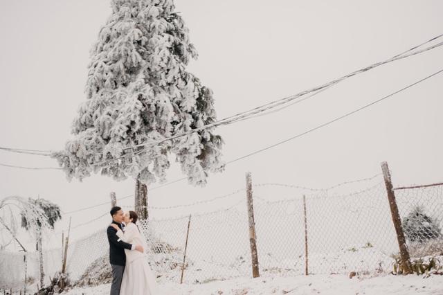 Cặp đôi Hà Nội vượt 400km chụp ảnh cưới với băng tuyết kỳ ảo ở Y Tý - 6