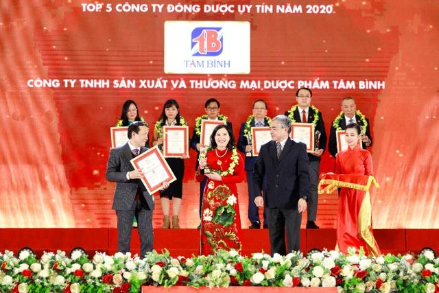 Dược phẩm Tâm Bình nhận giải Top 5 Công ty Đông dược uy tín 2020 - 1