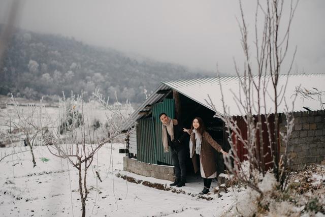 Cặp đôi Hà Nội vượt 400km chụp ảnh cưới với băng tuyết kỳ ảo ở Y Tý - 11