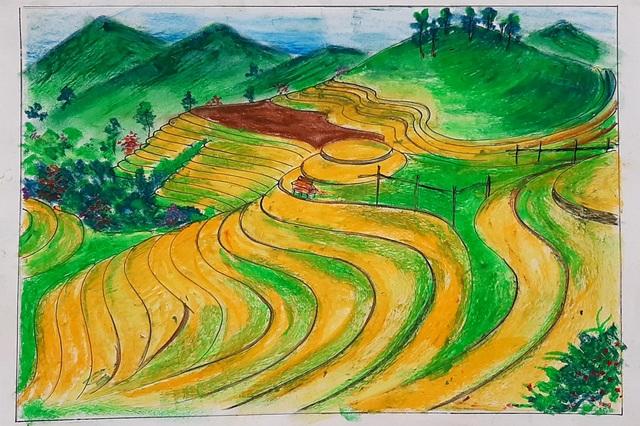 Thầy giáo trẻ Thanh Hóa truyền tình yêu đất nước tới học trò bằng tranh vẽ - 4