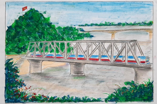 Thầy giáo trẻ Thanh Hóa truyền tình yêu đất nước tới học trò bằng tranh vẽ - 5