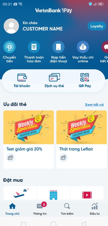 Giảm phí khi đăng ký tài khoản số đẹp trên VietinBank iPay Mobile - 2