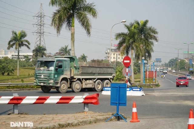Hàng loạt xe quá tải bị xử lý khi lưu thông trên cầu Thăng Long - 10