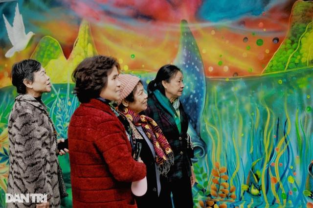 Đại sứ Mỹ khánh thành bức tranh tường 100m2 về chủ đề môi trường tại Hà Nội - 7