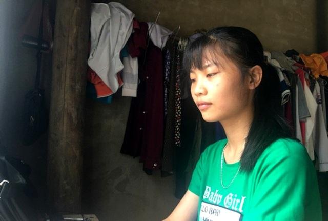 Nữ sinh Hà Thị Nhung ngày vừa thi xong THPT năm 2018.