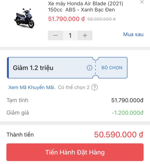 Đẩy doanh số Tết, Honda Air Blade bán dưới giá đề xuất gần 5 triệu đồng - 2