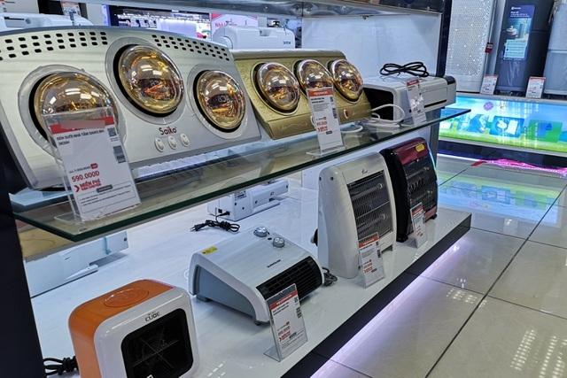 Máy sưởi, quạt sưởi giá rẻ cháy hàng tại siêu thị điện máy - 1