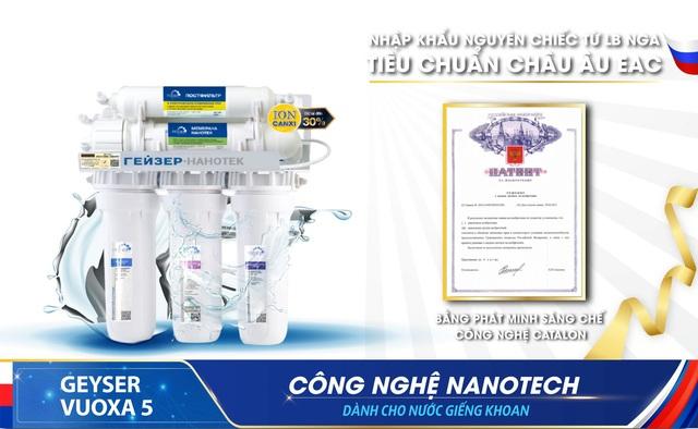 Review máy lọc nước nano dành cho nước giếng khoan Geyser Vuoxa 5 - 5