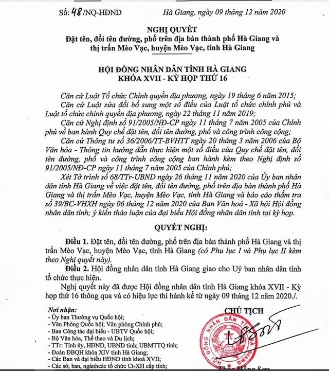 Hà Giang đặt tên ba tuyến phố mang tên liệt sĩ bảo vệ biên giới Vị Xuyên - 1