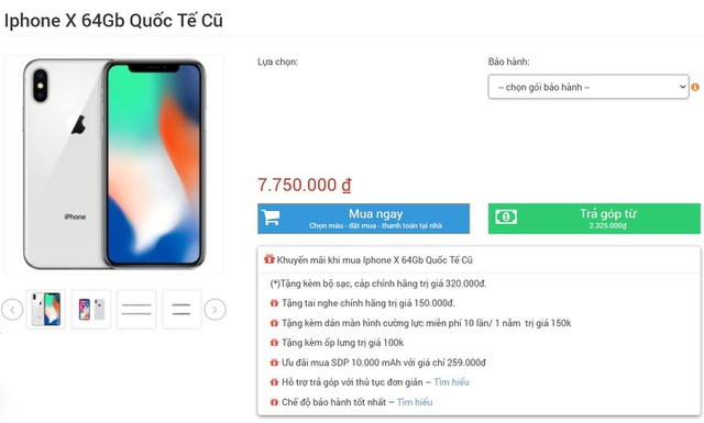 iPhone X hàng bãi giá hơn 7 triệu đồng ồ ạt về Việt Nam dịp cuối năm - 1