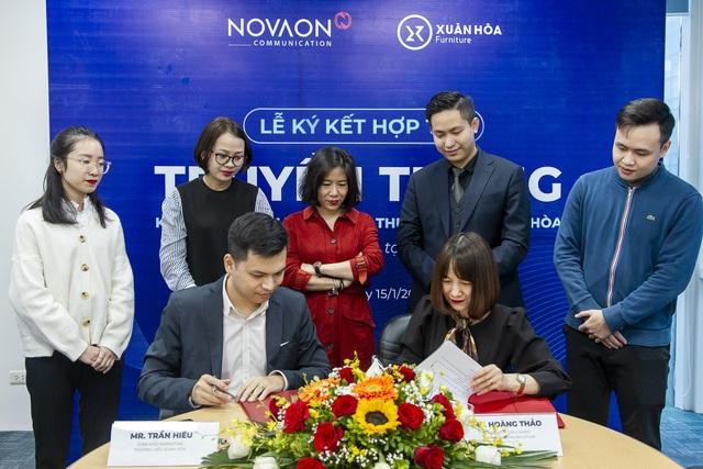 Nội thất Xuân Hòa ký hợp đồng hợp tác chiến lược với Novaon Communication - 1