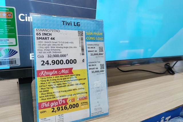 Đại lý đua nhau xả hàng, TV giảm giá chục triệu đồng dịp cuối năm - 1