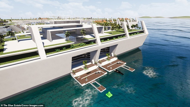 Choáng ngợp khung cảnh thành phố nổi trên biển đầu tiên thế giới - 5