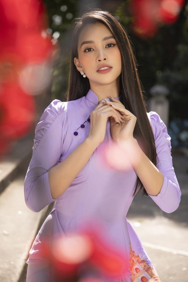 Trần Tiểu Vy tung loạt ảnh áo dài dự đoán trở thành hot trend dịp Tết - 10