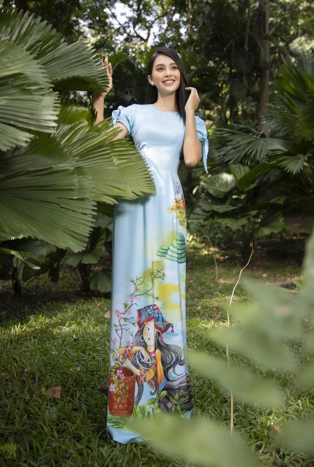 Trần Tiểu Vy tung loạt ảnh áo dài dự đoán trở thành hot trend dịp Tết - 5