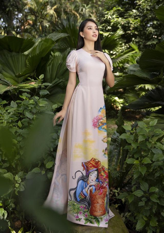 Trần Tiểu Vy tung loạt ảnh áo dài dự đoán trở thành hot trend dịp Tết - 6