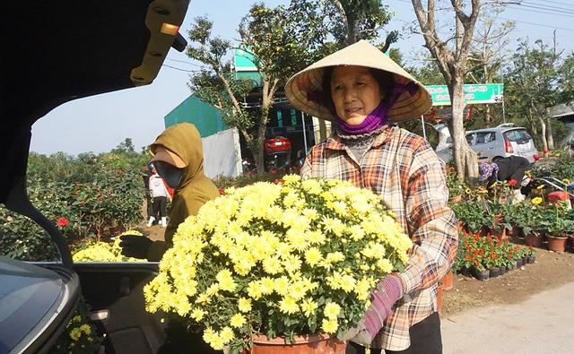 Lao động thời vụ căng sức làm việc, kiếm 300 nghìn/ngày ở các vựa hoa Tết - 4
