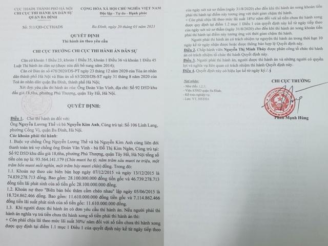 Vụ tranh chấp rúng động Hà Nội: Giám đốc Công ty phải thi hành 2 bản án - 2