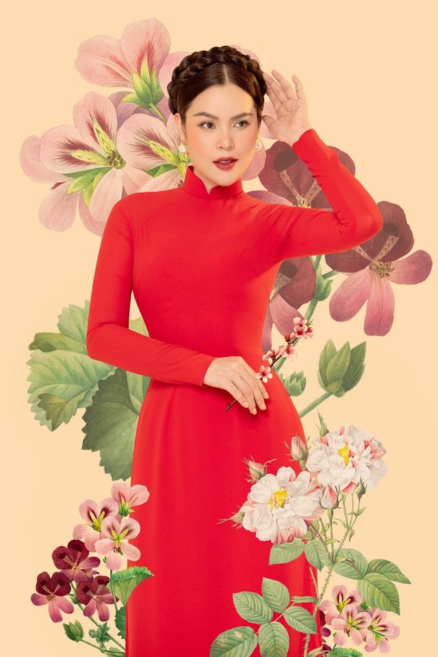 Hoa hậu Phương Lê  khoe sắc với áo dài - 1