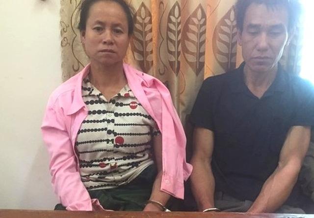 Vợ chồng Phanh và Phon tại cơ quan công an (Ảnh: Hoàng Tuấn/BNA).