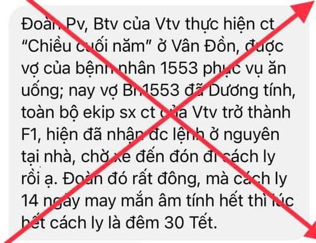 BTV Thu Hà phủ nhận tin ê kíp Chiều cuối năm của VTV trở thành F1 - 4