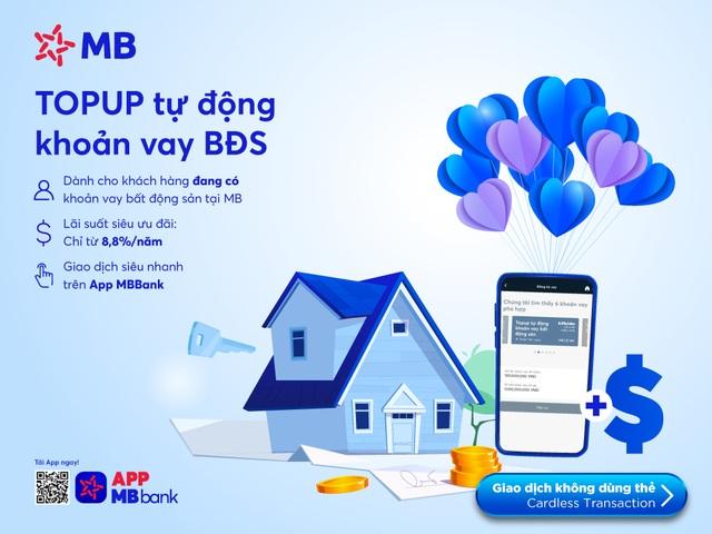 Vay Top-up tự động khoản vay bất động sản trên App MBBank - 1