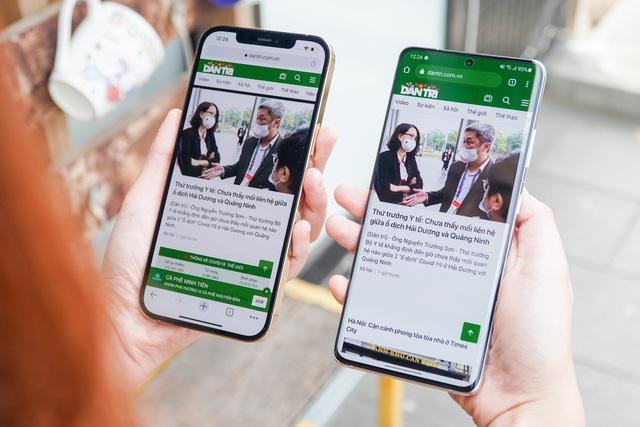 Galaxy S21 Ultra đọ dáng iPhone 12 Pro Max - 5