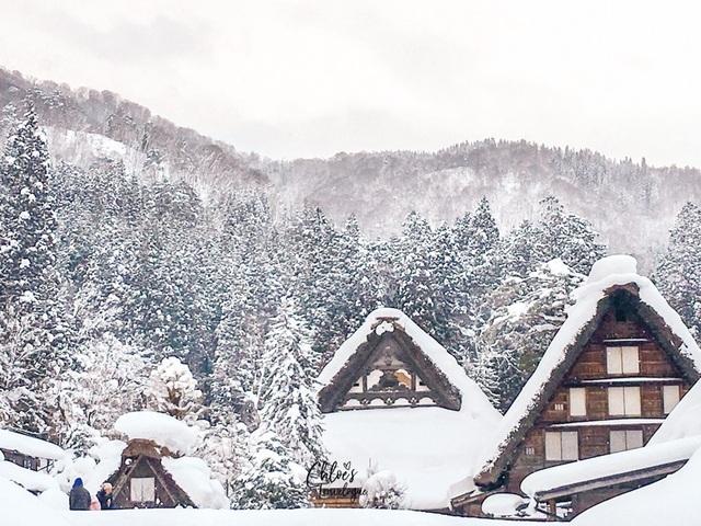 Những ngôi nhà cổ 250 tuổi lung linh trong tuyết trắng - 7