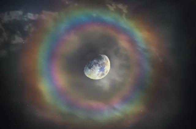 Chiêm ngưỡng cầu vồng ôm mặt trăng - hiện tượng cực kỳ hiếm gặp - 2