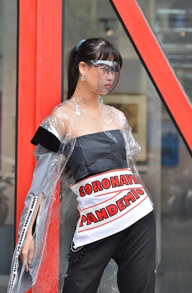 Sinh viên kiến trúc sáng tạo thời trang độc lạ chống dịch Covid-19  - 6