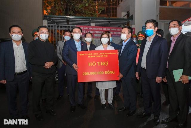 Bí thư Hà Nội Vương Đình Huệ thăm hỏi động viên trường tiểu học Xuân Phương - 6