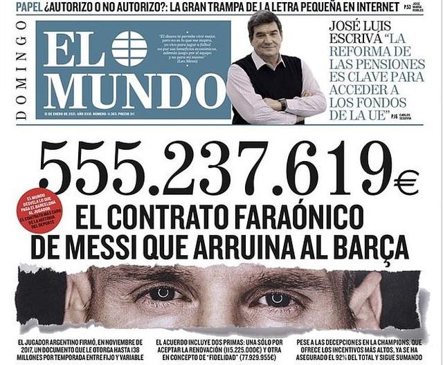 Choáng với số tiền nửa tỷ euro mà Barcelona trả cho Messi trong 3 năm - 2