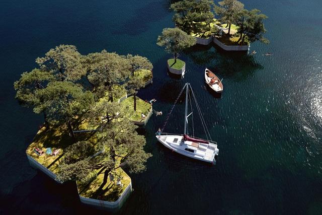 Công viên nổi ở Đan Mạch - nơi người dân chèo thuyền, bơi lội và làm nông - 1