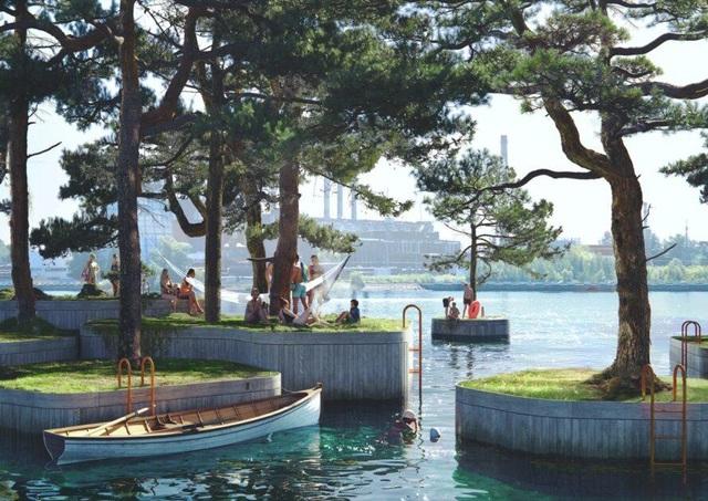 Công viên nổi ở Đan Mạch - nơi người dân chèo thuyền, bơi lội và làm nông - 2