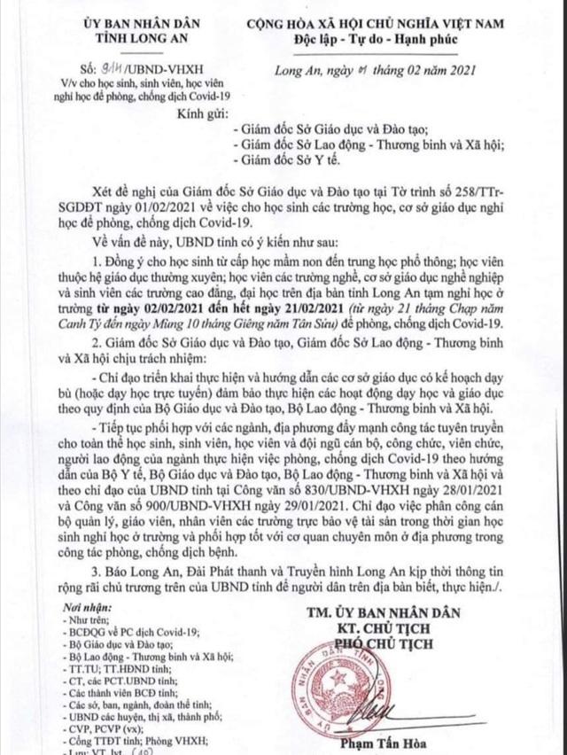 Thêm Long An, Đồng Tháp, 22 tỉnh thành cho học sinh nghỉ vì Covid-19 - 1