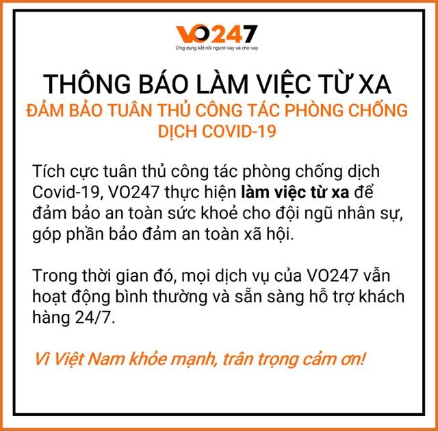 Công ty fintech VO247 cho nhân viên nghỉ Tết sớm chống dịch Covid - 3