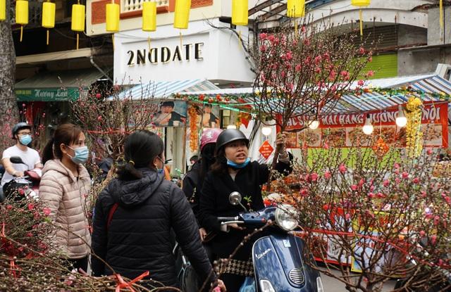 Hà Nội: Hoa đào bung nụ, tiểu thương bán hoa muốn đánh nhanh rút gọn  - 3