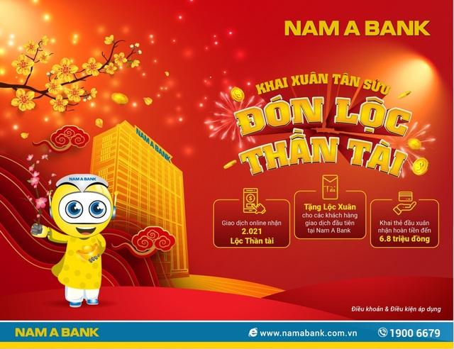 Nam A Bank tặng lộc xuân cho khách hàng giao dịch đầu năm - 1